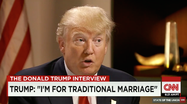 trump marriage